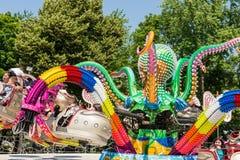 Dzieci Ma zabawę W ośmiornicy przejażdżce Obraz Royalty Free