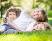 Dzieci ma zabawę outdoors Zdjęcia Royalty Free
