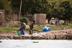 dzieci Mali bawić się dwa Obraz Royalty Free