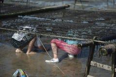 Dzieci morze zdjęcie stock