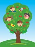 Dzieci na drzewie royalty ilustracja