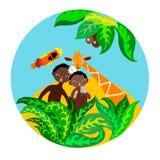Dzieci na tropikalnej wyspie Zdjęcie Royalty Free