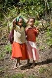 Dzieci na ulicie w Wamena, Nowa gwinei wyspa, Indonezja zdjęcie stock