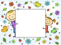 dzieci obramiają s Zdjęcia Royalty Free