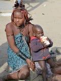 Dzieci od Himba plemienia Obraz Royalty Free