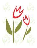 dzieci odizolowywający stylu stylizowany symbolu tulipan Zdjęcia Stock