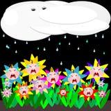 dzieci płaczu deszcz royalty ilustracja