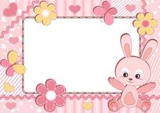 dzieci photoframe królik s royalty ilustracja