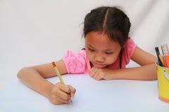 Dzieci pisać Zdjęcie Royalty Free