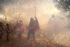 dzieci podpalają bieg Obraz Royalty Free