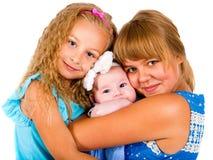 Dzieci Portret trzy pięknej młodej dziewczyny Obrazy Royalty Free