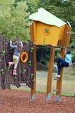 Dzieci przy boiskiem Obraz Royalty Free