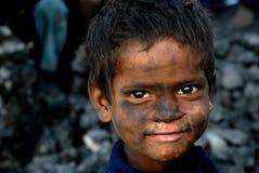 Dzieci przy Coalmine terenem Fotografia Stock
