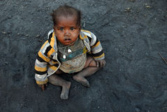 Dzieci przy Coalmine terenem Obrazy Stock