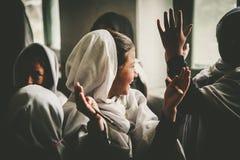 Dzieci przychodzi szkoła w Skardu, Pakistan Zdjęcia Royalty Free
