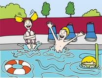 dzieci przyjęcia basen s Fotografia Royalty Free