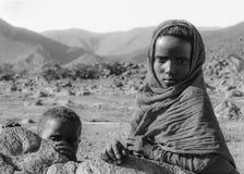 Dzieci pustynia obraz royalty free