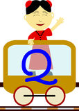 dzieci q serii pociąg royalty ilustracja