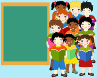 Dzieci różne rasy z książkami w rękach Zdjęcie Royalty Free