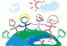 dzieci ręk target142_1_ ilustracja wektor