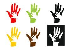 dzieci ręki symbol ilustracja wektor