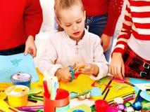 Dzieci robią karcie. obraz royalty free