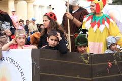 Dzieci. Roczny Karnawałowy korowód. Fotografia Stock