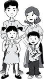 dzieci rodzin rodzinny szczęśliwy wiele mój portfolio dwa Ilustracja Wektor
