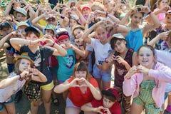 Dzieci rozpoznają kochać Obrazy Royalty Free