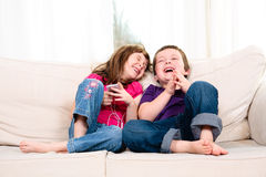 Dzieci słucha muzyka Zdjęcie Stock