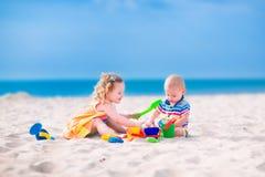 dzieci się beach Zdjęcie Stock