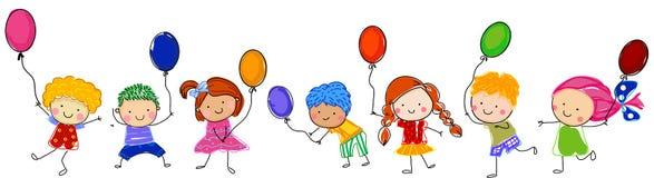 dzieci się grać royalty ilustracja