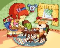 dzieci składają czas royalty ilustracja