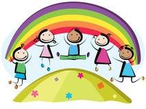 Dzieci skakać Fotografia Stock