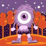 Dzieciństwo rysunkowy purpurowy potwór Fotografia Stock