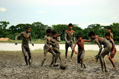 Dzieciństwo w Bangladesz Obrazy Royalty Free