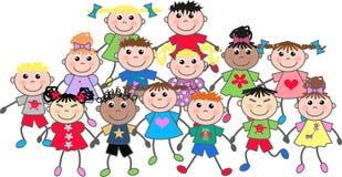 dzieci szczęśliwi ilustracja wektor