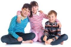 dzieci szczęśliwi trzy Fotografia Royalty Free