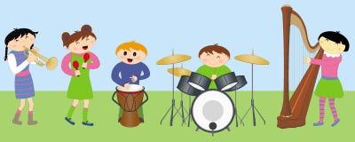 dzieci szczęśliwy instrumentów bawić się Obrazy Royalty Free