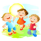 dzieci szczęśliwi Obrazy Royalty Free