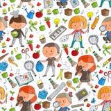 Dzieci Szkoła i dzieciniec Twórczość i edukacja muzyka eksploracja nauka wyobraźnie Sztuka i nauka ilustracja wektor