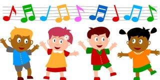 dzieci tańczyć Obrazy Royalty Free