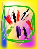 dzieci target1845_1_ s Obrazy Royalty Free