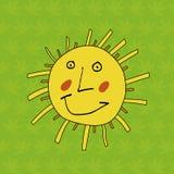 dzieci target2188_1_ s śmiesznego słońce Obrazy Stock