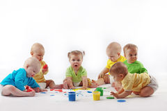 dzieci target2246_1_ Obrazy Stock
