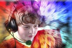dzieci target2265_1_ muzykę Obrazy Royalty Free