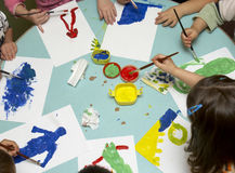 dzieci target294_1_ Fotografia Stock