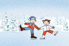 Dzieci target348_1_ royalty ilustracja
