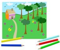 dzieci target859_1_ s Zdjęcie Royalty Free