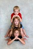 dzieci trzy Zdjęcia Royalty Free